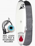Bic DURA-TEC Magnum Surfboard Package 8ft 4 - White