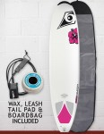 Bic DURA-TEC Wahine Natural Surf 2 2016 Package Surfboard 7ft 9 - White