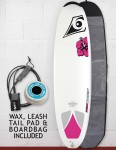 Bic DURA-TEC Wahine Egg 2016 Package Surfboard 7ft - White