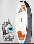Bic DURA-TEC Fish surfboard 5ft 10 Package - Orange