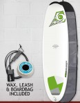 Bic DURA-TEC Egg surfboard 7ft Package - Green