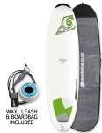 Bic DURA-TEC Egg surfboard 7ft 0 Package - Green
