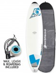 Bic DURA-TEC Mini Malibu surfboard package 7ft 3 - Blue