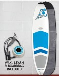 Bic DURA-TEC Padded Mini Malibu surfboard 7ft 3 package - Blue