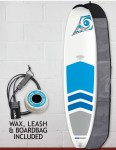 Bic DURA-TEC Padded Natural Surf 2 surfboard 7ft 9 package - Blue