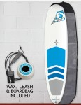 Bic DURA-TEC Padded Magnum surfboard 8ft 4 package - Blue