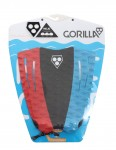 Gorilla Mojo surfboard tail pad - 3 Way