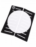 Gorilla Centre Deck Surfboard Traction Pad - White Dot