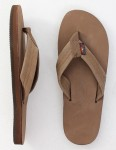 Rainbow Sandals Premier Leather Single Layer Arch Flip flops - Dark Brown