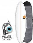 Torq Mod Fish surfboard package 6ft 10 - White/Pinline