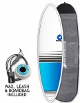 Torq Mod Fun surfboard package 6ft 8 - Blue Fade