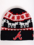 New Era The Mooser Atlanta Braves Cuff beanie - Navy