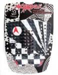 Astrodeck John John Surfboard Tail Pad - Black/White