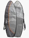 Beyond Hybrid Day Tripper 8mm Surfboard bag 6ft 7 - Grey/Orange