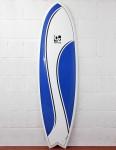 Cortez Surfboards Fish Surfboard 6ft 6 - Blue Swish