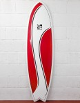 Cortez Surfboards Fish Surfboard 6ft 9 - Red Swish