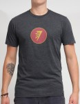 Firewire Circle Icon T shirt - Charcoal Heather