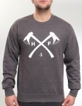 Hold Fast Axes Crew neck sweatshirt - Charcoal