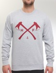 Hold Fast Axes Crew neck sweatshirt - Heather Grey