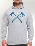 Hold Fast Axes Hoody - Heather Grey