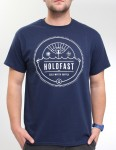 Hold Fast Electric Wave T Shirt - Navy