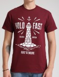 Hold Fast Lighthouse T shirt - Merlot