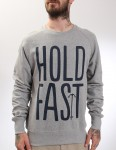 Hold Fast Logo Crew neck sweatshirt - Grey