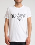 Hold Fast Script T shirt - White