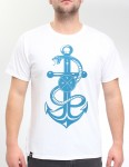 Hold Fast Snake & Anchor T Shirt - White