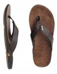 Reef J-Bay Leather flip flop - Dark Brown
