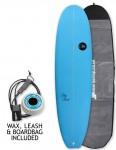 ABC Big Bird surfboard package 7ft 4 - Blue