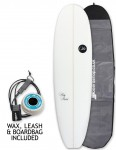 ABC Big Bird Mini Mal surfboard package 7ft 4 - White