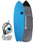 ABC Super Fish surfboard package 6ft 6 - Sea Blue