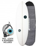 ABC Wild Cat surfboard package 5ft 11 - White