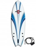 Alder Delta Hybrid Fish Soft surfboard 6ft - White/Blue
