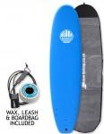 Alder Session Soft/Hard Surfboard Package 7ft 6 - Blue