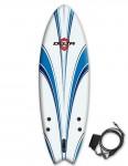 Alder Delta Hybrid Fish Soft surfboard 6ft - White/Blue