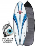 Alder Delta Hybrid Fish Package Soft surfboard 6ft - White/Blue