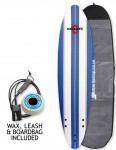 Alder Delta Stringers Soft surfboard package 6ft - Blue Stripe