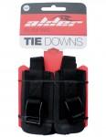 Alder Tie Down 4 Metre roof rack straps (pair) - Black