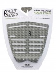 Slater Designs 4-Piece Surfboard Tail Pad - Grey