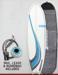 Blue Dot Fish surfboard package 6ft 3 - Blue Swirl