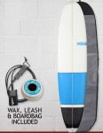 Blue Dot Mini Mal Surfboard Package 7ft 6 FCS - Blue/Black Blocks