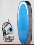 Blue Dot Retro Rug Surfboard Package 6ft 6 - Blue