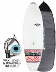 Bic DURA-TEC Fish surfboard 5ft 10 Package - Red