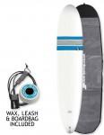 Bic ACE-TEC Longboard surfboard 9ft 0 package - Blue