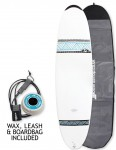 Bic DURA-TEC Egg surfboard 7ft 0 Package - Grey