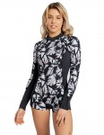 Billabong Ladies Spring Fever Long Sleeve Shorty 2/2mm Wetsuit 2018 - Black Sands