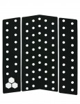 Channel Islands 3 Piece Cut Out Front surfboard traction pad - Black