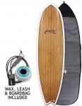 Cortez Fish Veneer surfboard package 6ft 3 - Bamboo